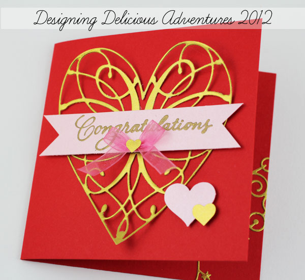 Anniversary Card Using Memory Box Dies