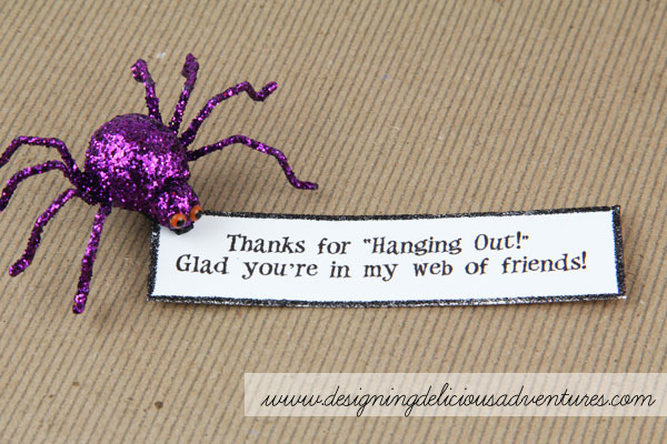 Handmade Halloween Treat Bags- Spider Embellishment