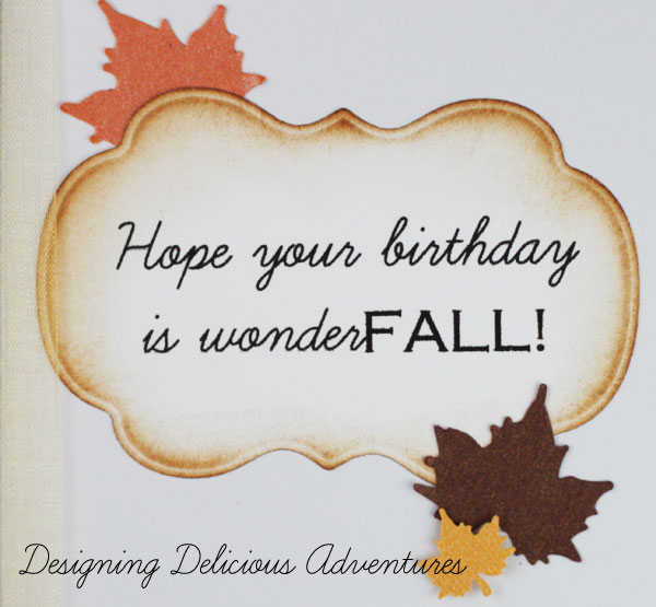 Autumn Handmade Card Saying
