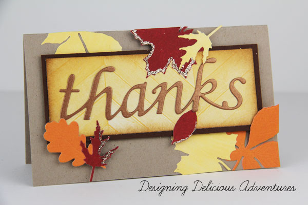 Autumn Handmade Thank You Card