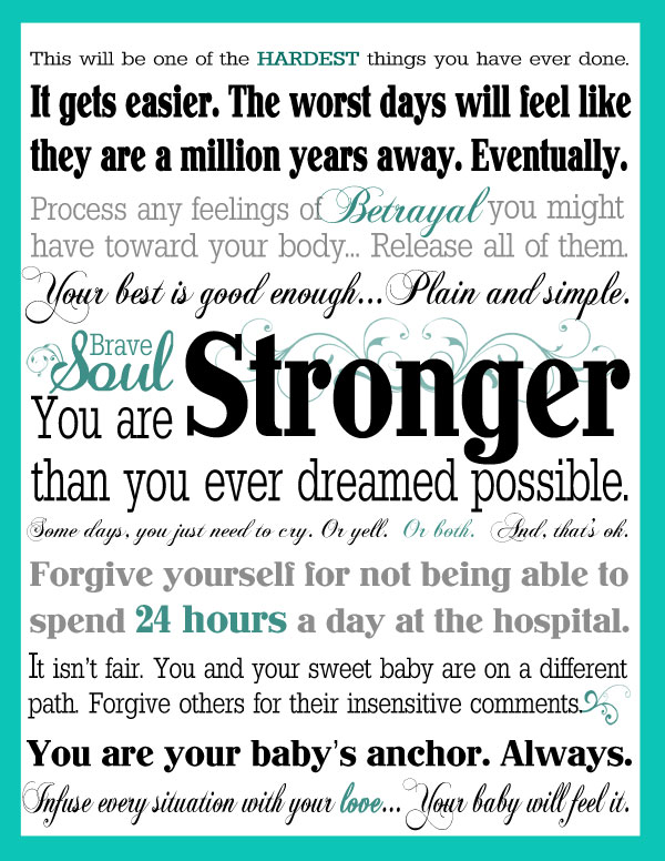 Encouraging Words for Preemie Parents