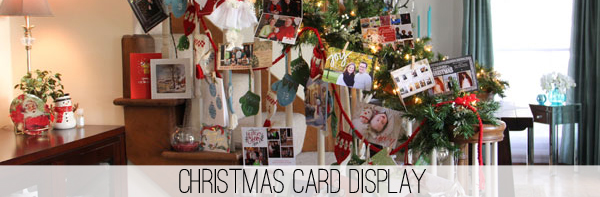 Favorite Christmas Card Display