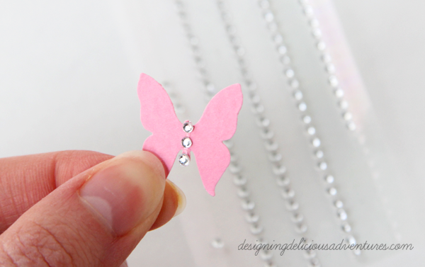 Spring Butterfly Card Embellish