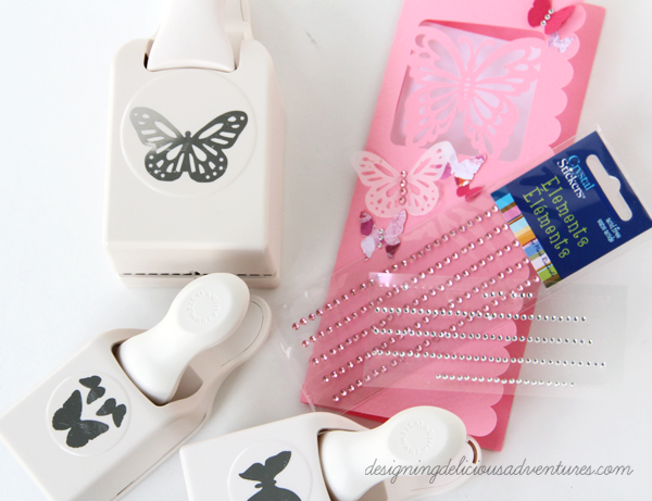 Spring Butterfly Card Supplies