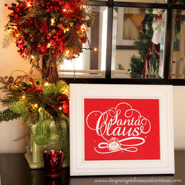 Christmas Words Frameable Print
