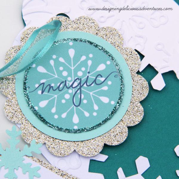 Snowflake Gift Tag Detail
